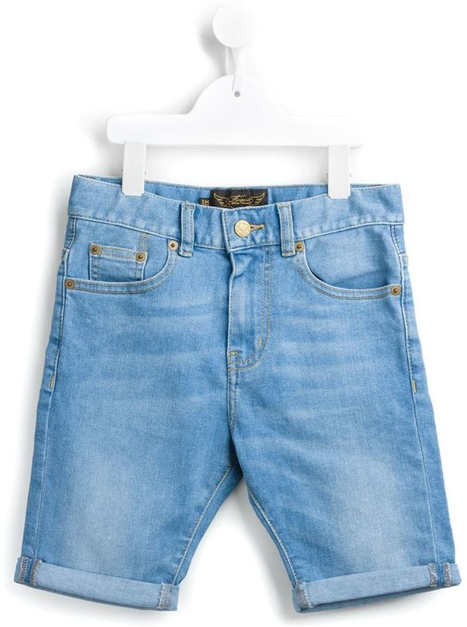 Finger In The Nose Washed Denim Shorts