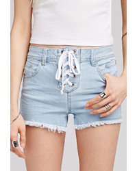 Forever 21 Lace Up Denim Shorts | Where to buy & how to wear