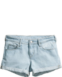 Women's Light Blue Denim Shorts by H&M | Women's Fashion
