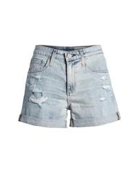 AG Hailey High Waist Cuff Denim Shorts