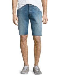 Hess straight leg cutoff denim shorts light blue medium 565967