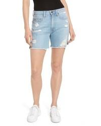 Good American High Waist Cutoff Denim Shorts