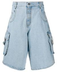 Moschino Knee Length Denim Shorts