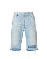 Marcelo Burlon County of Milan Knee Length Denim Shorts