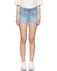 Levi's Blue Denim Orange Tab Shorts