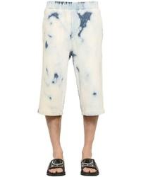 Mcq by alexander mcqueen bleached denim effect stretch shorts medium 1155199