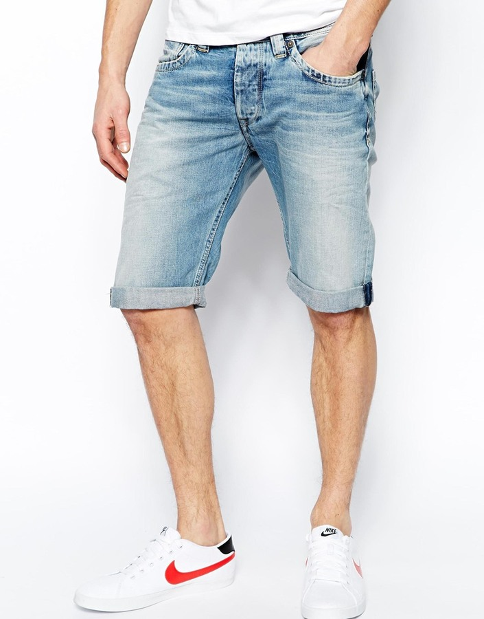 Pepe Jeans Pepe Denim Shorts Cash Straight Fit Light Wash Blue ...