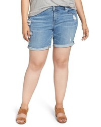 Lucky Brand Plus Size Georgia Roll Cuff Denim Shorts