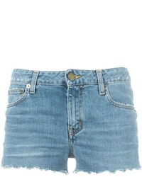 Saint Laurent Stonewashed Denim Shorts