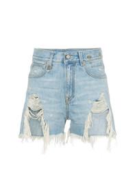 Shredded slouch denim shorts medium 7587276