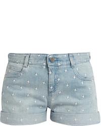 Stella McCartney Star Embroidered Denim Shorts