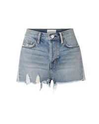 Current/Elliott The Ultra High Waist Distressed Denim Shorts