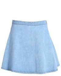 Chicnova light denim skater skirt medium 103965