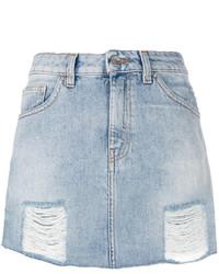 IRO Distressed Denim Skirt