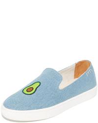 Light Blue Denim Slip-on Sneakers
