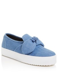 Rebecca Minkoff Stacey Denim Slip On Platform Sneakers