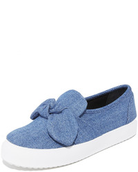 Rebecca Minkoff Stacey Denim Slip On Sneakers