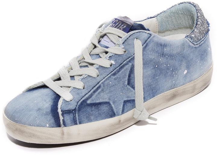 9caa85a199142 ... Denim Sneakers Golden Goose Deluxe Brand Golden Goose Superstar Sneakers  ...