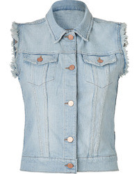 Light Blue Denim Vest