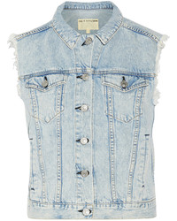 Rag & Bone Frayed Denim Vest
