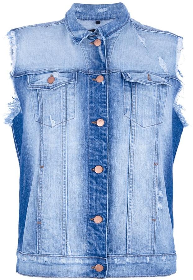 J Brand Sleeveless Denim Jacket