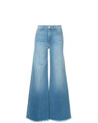 Frame Denim Le Palazzo Raw Edge Jeans