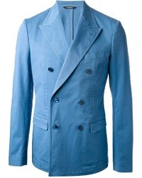 Light Blue Double Breasted Blazer