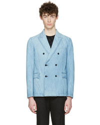 Valentino Blue Denim Double Breasted Blazer