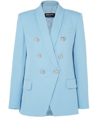 Balmain Double Breasted Woven Blazer