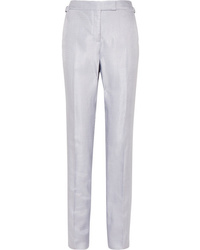Tom Ford Metallic Woven Straight Leg Pants
