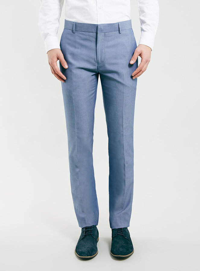 Topman Blue Light Weight Skinny Dress Pants | Where to buy & how ...
