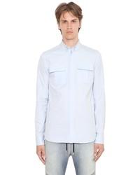 Balmain Button Down Oxford Cotton Shirt
