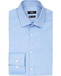 Hugo Boss Birdseye Pattern Slim Fit Cotton Shirt