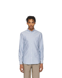 Officine Generale Blue Antime Oxford Shirt