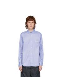 Comme des Garcons Homme Blue Logo Oxford Shirt