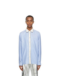 Gucci Blue Round Collar Oxford Shirt