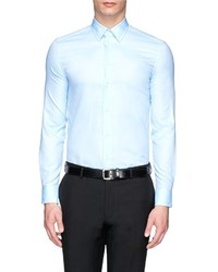 Armani Collezioni Bone Collar Pinpoint Oxford Shirt