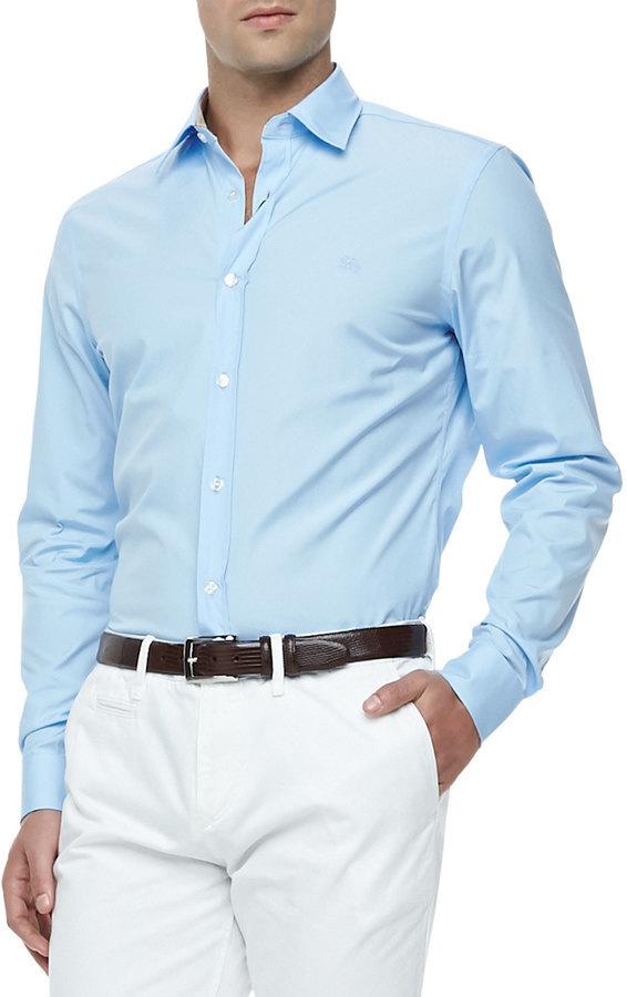 Baby Blue Burberry Shirt