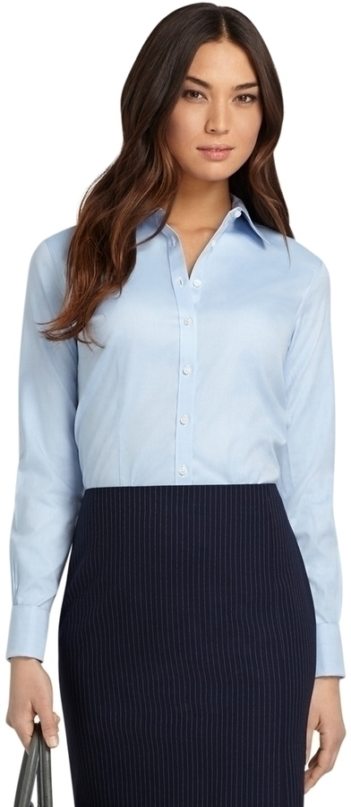 brooks brothers non iron fitted french cuff dress shirt