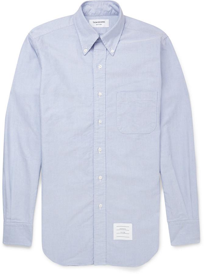 118c04d1f07 ... Thom Browne Button Down Collar Cotton Oxford Shirt ...