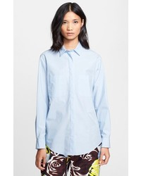 MSGM Button Front Cotton Shirt