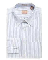 Gitman Cambridge Oxford Regular Fit Stripe Dress Shirt