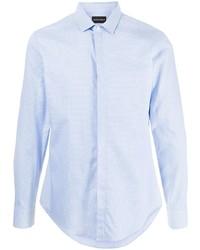 Emporio Armani Checked Print Cotton Shirt