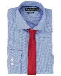 Lauren Ralph Lauren Classic Fit Non Iron Broadcloth Estate Collar With Pocket Dress Shirt Long Sleeve Button Up