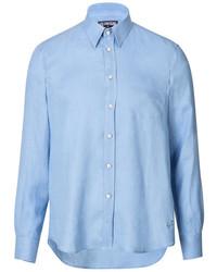 Vilebrequin Classic Linen Shirt In Sky Blue