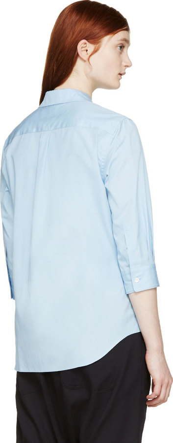 2ccd93f7 Comme des Garcons Comme Des Garons Girl Blue Peter Pan Collar Shirt, $300 |  SSENSE | Lookastic.com