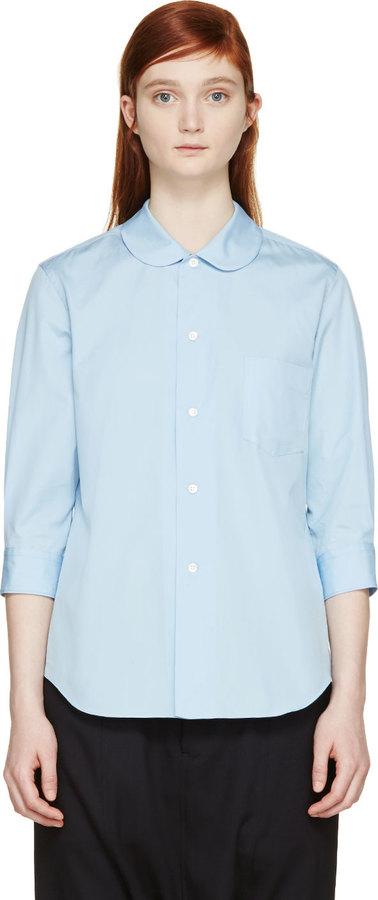 43ad501b ... Comme des Garcons Comme Des Garons Girl Blue Peter Pan Collar Shirt ...
