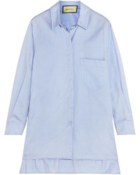 Cotton shirt blue medium 394056