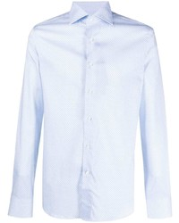 Canali Embroidered Button Down Shirt