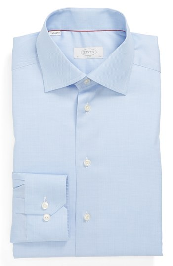 Eton Slim Fit Dress Shirt Blue 165